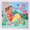 Nina in the Garden Canvas Wall Art