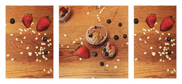 Very Berry Healthy Oat Muffins