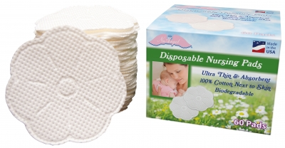 NuAngel Biodegradable Disposable Nursing Pads