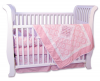 Versailles Pink 4Pc Crib Bedding Set