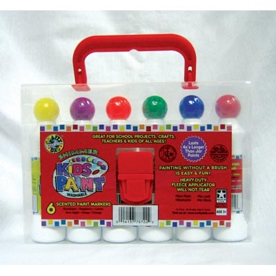 Kids Shimmer Paint 6 pack Carry Case