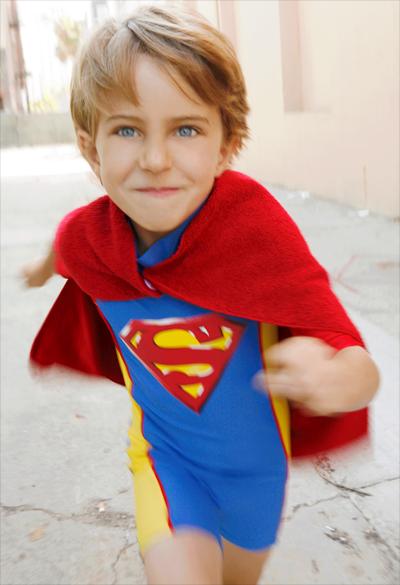 Superman UV 1 Piece + Towel Cape