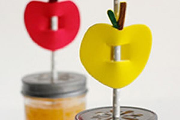 Apple Shaped Straw Buddies Creative Child