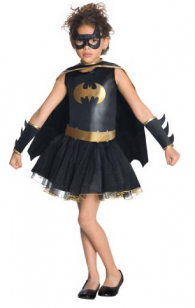Batgirl Glitter Cape, Tutu Skirt and Eye Mask Dress-up Set
