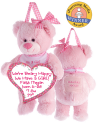 Pink Bear Treasure Pocket a-door-nimal