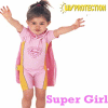 Supergirl UV 1 Piece + Towel Cape