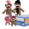 The Sock Monkey Family in Car Box