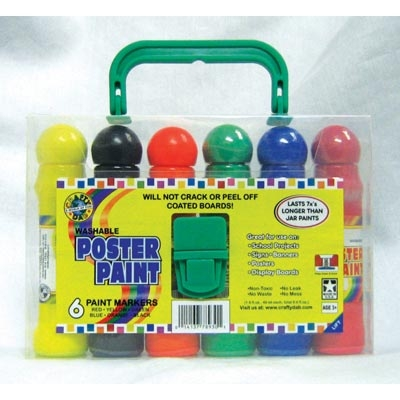 Poster Paint 6 pack Carry Case