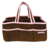 Brown and Pink Ultra Suede Storage Caddy