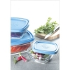 5 Pc Square Bowl with Lid Set