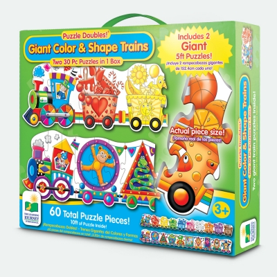 Puzzle Double Color & Shape Train Floor Puzzle