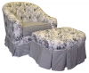 Toile Black Adult Park Avenue Rocker Glider with Ottoman