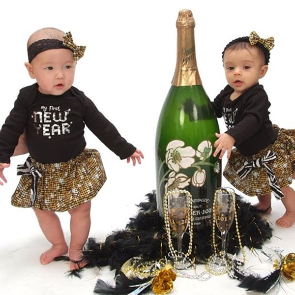 New Years Sisters Matching Outfits