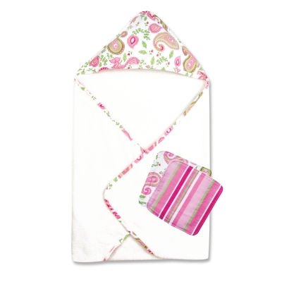 Trend Lab 3 Piece Bath Bundle Box- Paisley Park