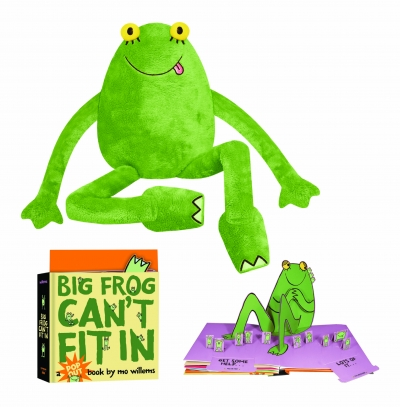 Mo Willems Big Frog Soft Toy & Book Set