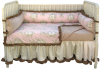 Angelica Girl's Four Piece Crib Set