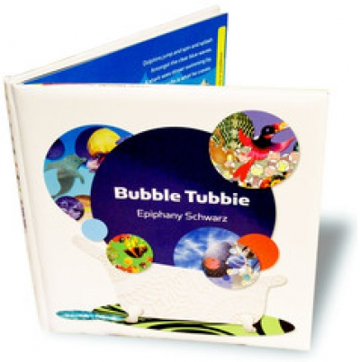 Bubble Tubbie Padded Hardcover Book with Bath Stickers