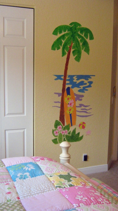 Palm Tree & Surfboard