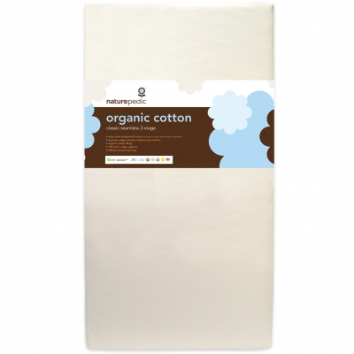 Naturepedic Organic Cotton Seamless 2-Stage Crib & Toddler Mattress