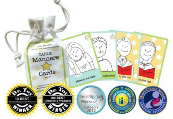 Golly Geepers Table Manners Cards