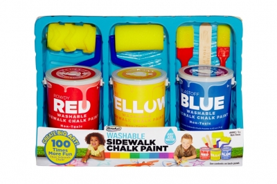 Washable Sidewalk Chalk Paint Kits from RoseArt