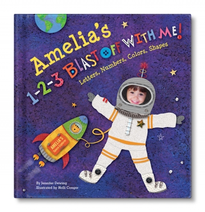 1-2-3 Blast off with Me Personalized Board Book