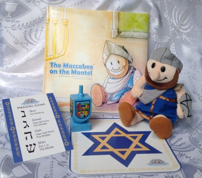 Maccabee on the Mantel Hanukkah Gift Set